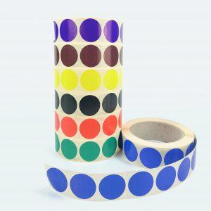 Kółka kolorowe, etykiety samoprzylepne do znakowania Ø50mm