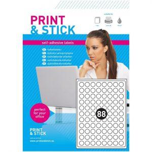Etykiety samoprzylepne A4 do drukarek, białe kółka 20mm