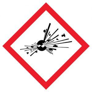 Znak GHS01 100x100mm - piktogramy BHP
