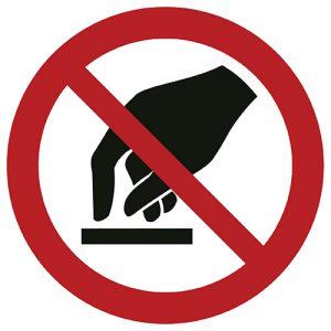 Znak zakazu P010 / ISO 7010 - piktogramy BHP