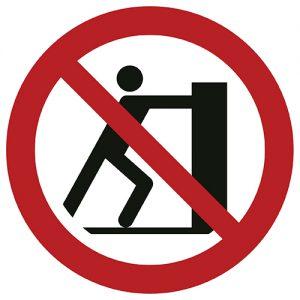 Znak zakazu P017 / ISO 7010 - piktogramy BHP