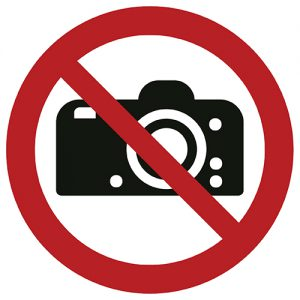 znak zakazu P029 / ISO 7010 - piktogramy BHP