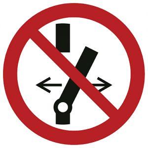 Znak zakazu P031 / ISO 7010 - piktogramy BHP