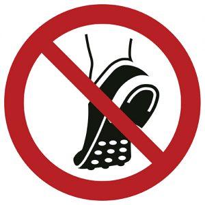 Znak zakazu P035 / ISO 7010 - piktogramy BHP