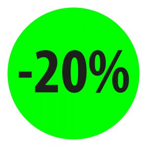naklejka okrągła -20%
