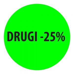 naklejka zielona okrągła drugi -25%